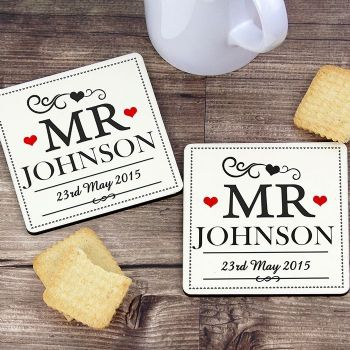 Mr & Mr Coaster Set